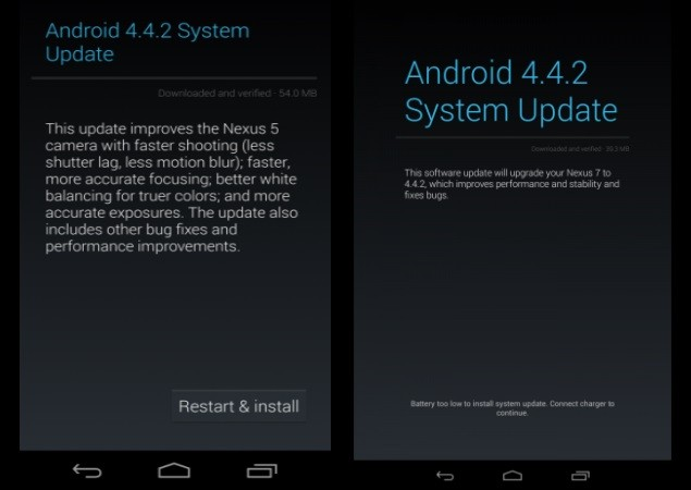 Android 4.4.2 KOT49H Bug-Fix Update Rolls Out for Nexus 7 ...