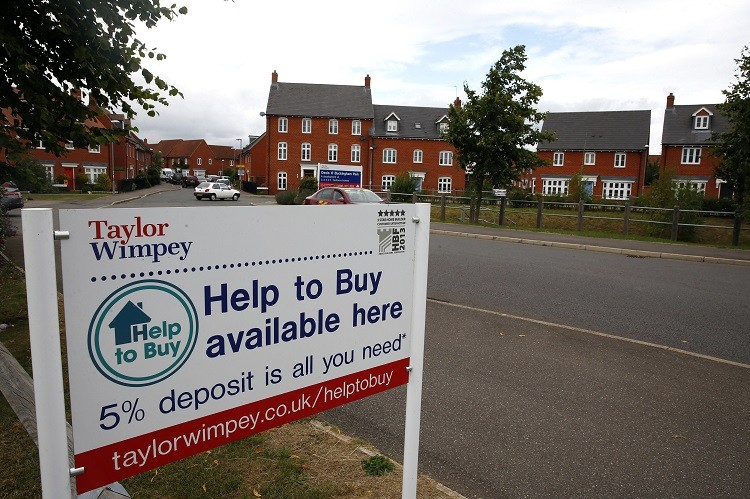 UK house prices help to b