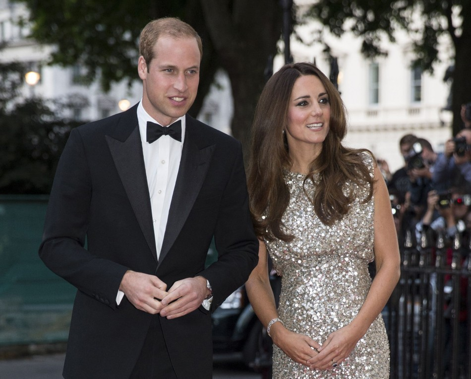 Prince William and Kate Middleton arr