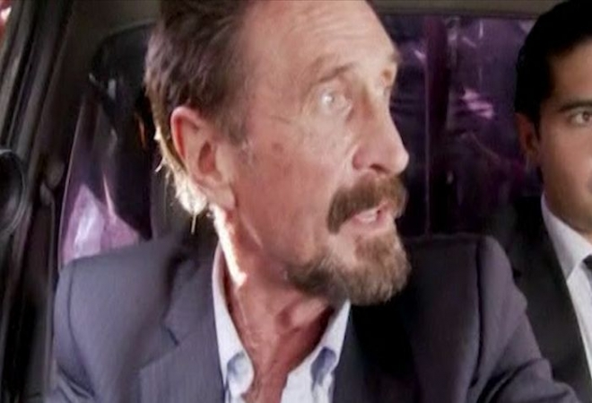 John McAfee deported from Guatemala to Miami