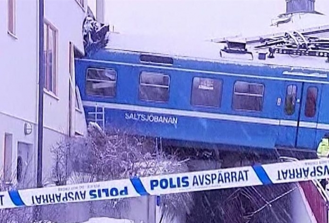 Swedish cleaning lady steals and crashes train