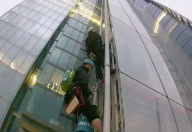 Greenpeace Protesters Climb The Shard