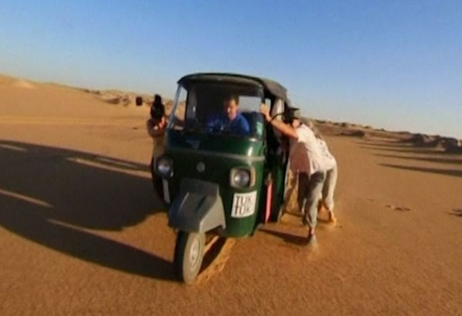 British Teachers Ride Tuk Tuk Across the World