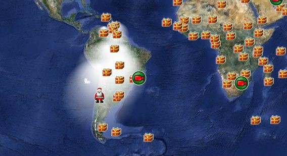 Norad Santa Tracker 2011 Where Is Santa At The Moment In