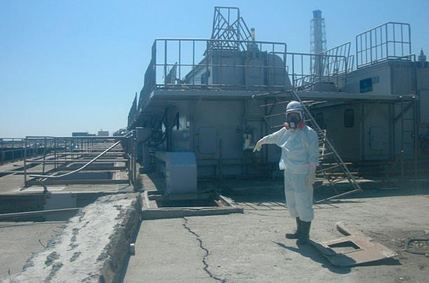 Rare images of Tsunami striking Fukushima Nuclear Plant