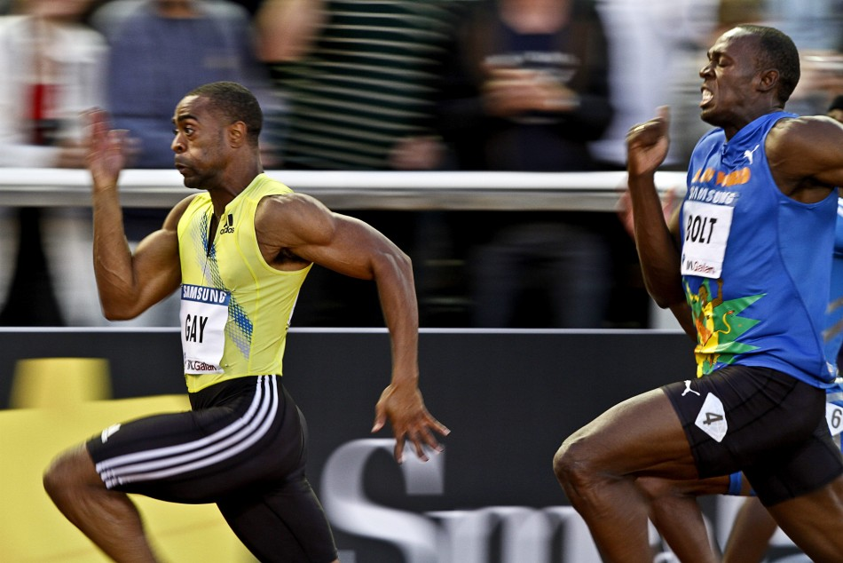 Tyson Gay and Usain Bolt will hope to feature in the 100 metres final at the 2012 London Olympics