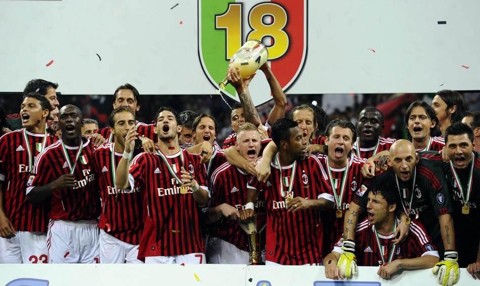 AC Milan finished with 82 points, six ahead of cross-town rivals Internazionale, to take the Italian Serie A title.