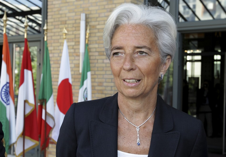 Frances Finance and Economy Minister Lagarde arrives at a G20 Globalisation conference in Paris