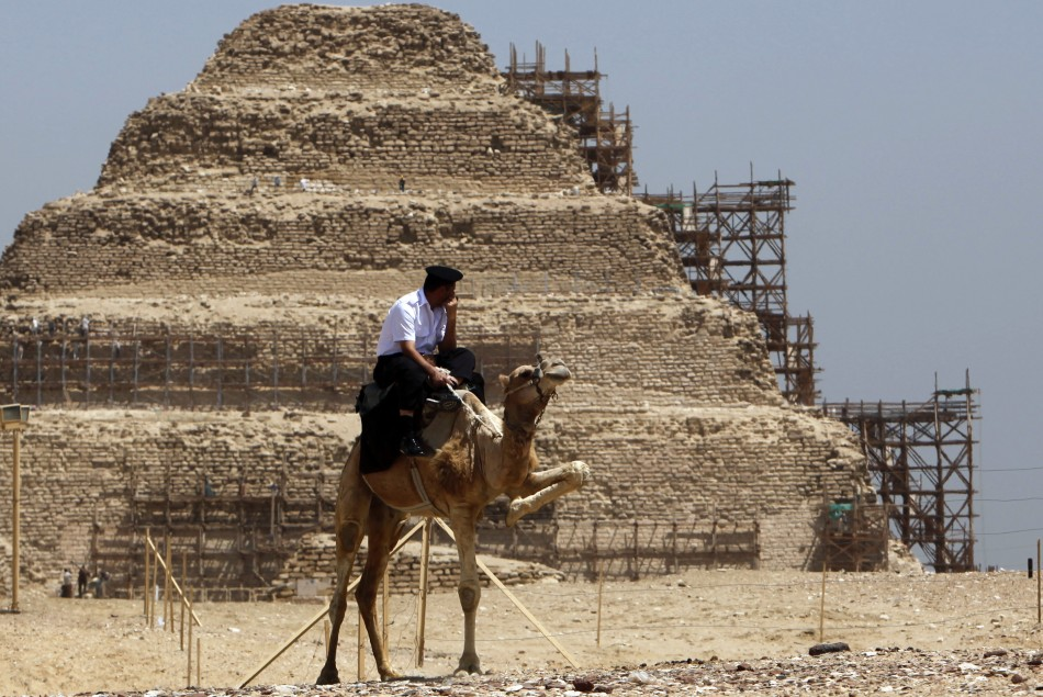 Lost Egyptian pyramids discovered by satellite images.