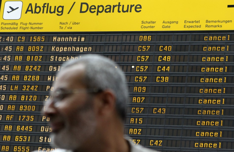 Flights were disrupted across northern Europe