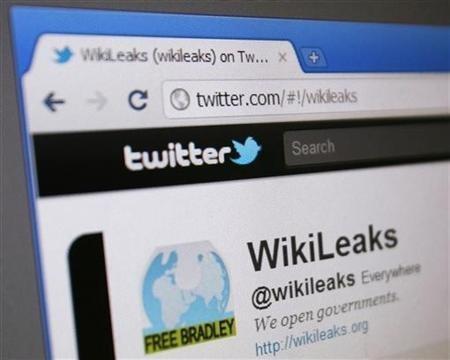WikiLeaks' Twitter page