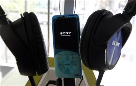 A Sony Walkman audio player is seen at the company's showroom in Tokyo