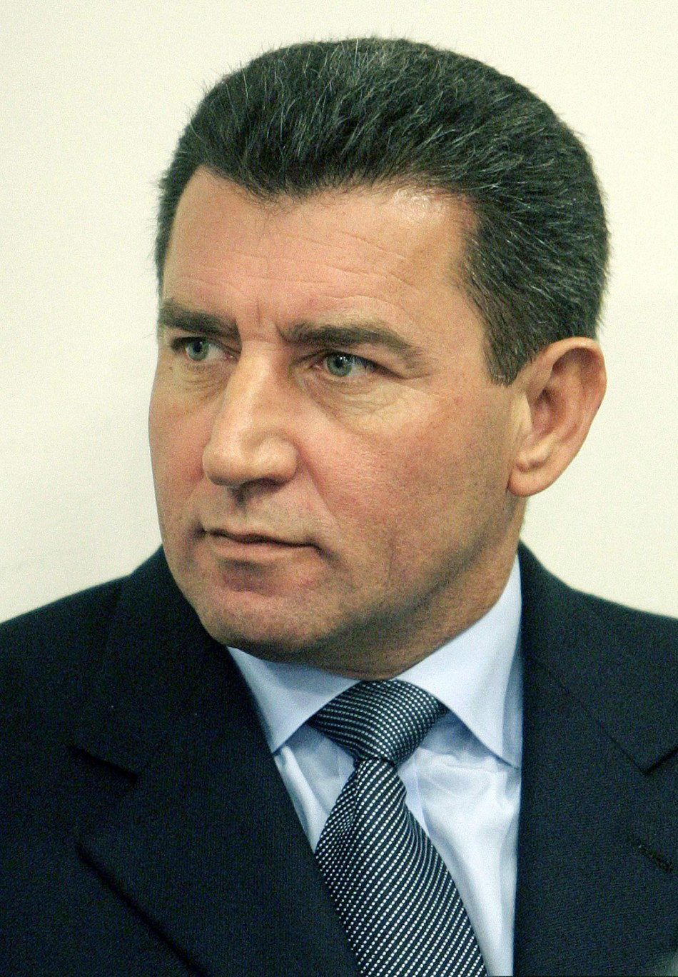 Croatian General Ante Gotovina sits in the court room of the U.N. war crimes tribunal