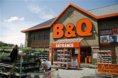 A customer shops at a B&Q store in south London