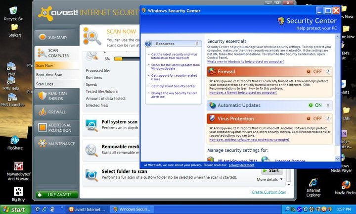 The AVG Anti-virus software