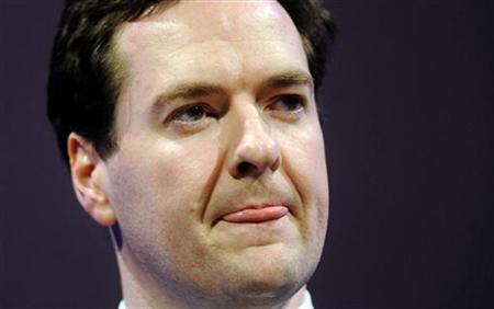 Chancellor Osborne speaks at the CBI annual dinner at the Grosvenor House Hotel, in central London
