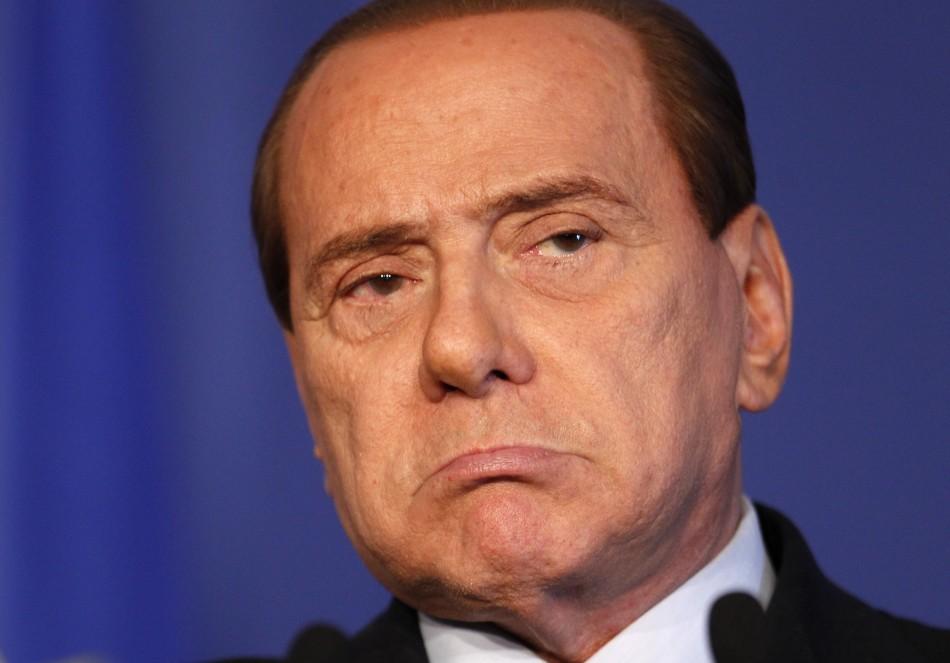 Italy's Prime Minister Berlusconi