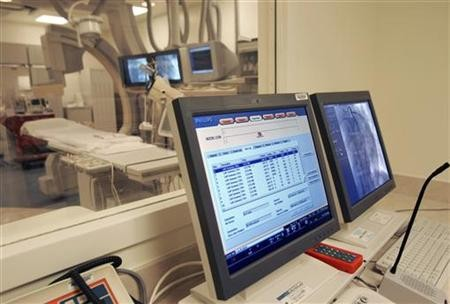 A hospital monitor