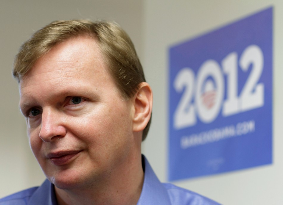 Campaign manager Messina speaks with the media at President Barack Obama's new campaign headquarters in Chicago
