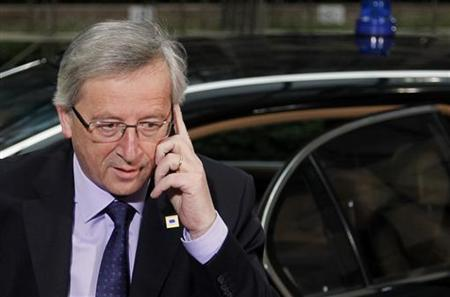 Eurogroup President and Prime Minister of Luxembourg Juncker arrives at Euro Zone leaders summit in Brussels