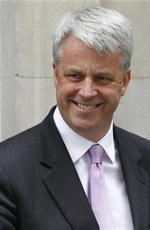 Lansley arrives at Downing Street in London