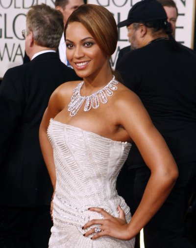 Singer Beyonce Knowles arrives at Golden Globes