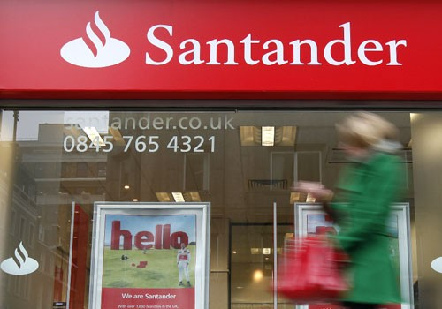 A branch of a Santander bank in London