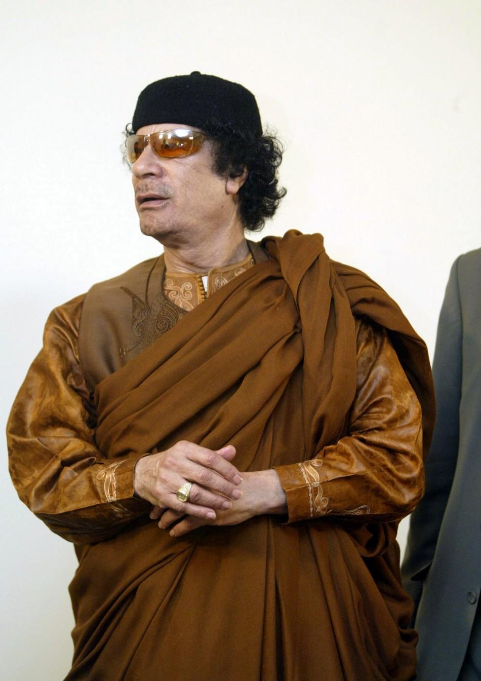 Former Libyan leader Muammar Gaddafi
