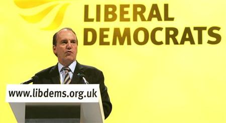Simon Hughes speaks at the party's annual conference in Brighton