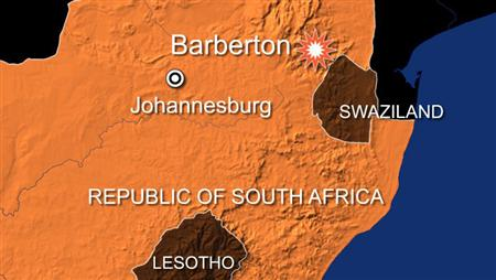 A bus carrying British tourists crashed on a notorious mountain road in northeast South Africa on Thursday