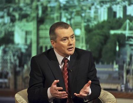 Handout photograph shows British Airways Chief Executive Walsh speaking on the Andrew Marr Show on the BBC in London
