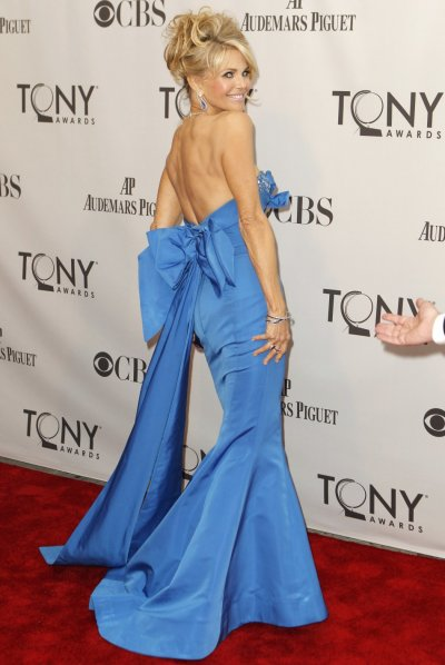 Model Christie Brinkley arrives for the American Theatre Wings 65th annual Tony Awards ceremony in New York
