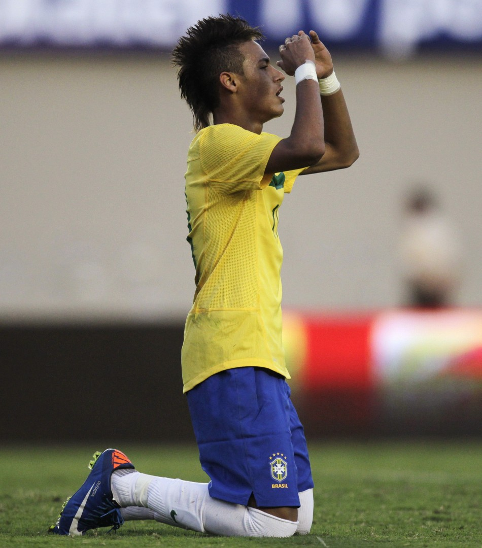Neymar reacts to the news that he could be playing alongside Fernando Torres next season.