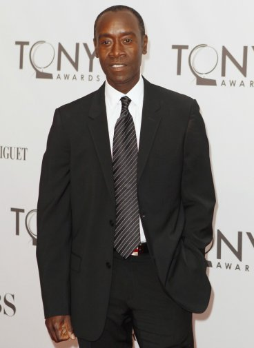 Actor Don Cheadle poses as he arrives during the American Theatre Wing's 65th annual Tony Awards ceremony in New York, June 12, 2011.