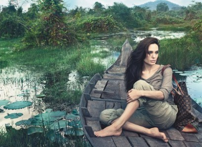 Angelina Jolie for the Core Values campaign