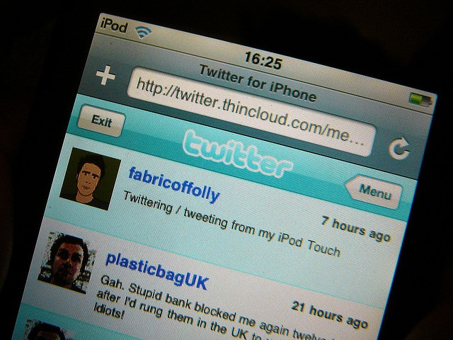 Twitter on iPhone