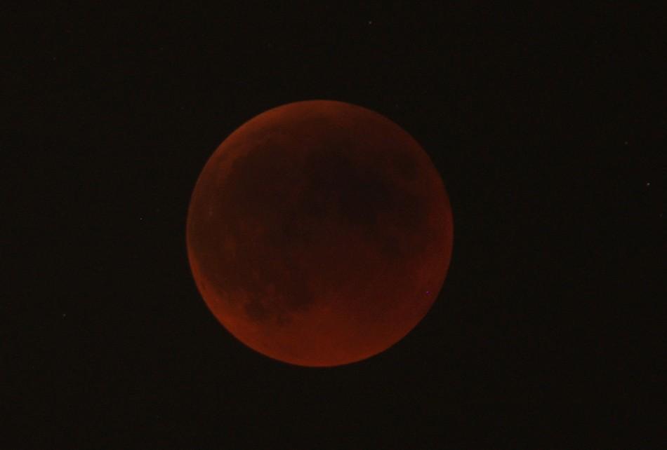 lunar eclipse as seen from Amman