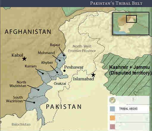 Map of Pakistan Tribal Regions