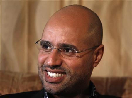 """Libyan leader Muammar Gaddafi""""s most prominent son, Saif al-Islam,"""