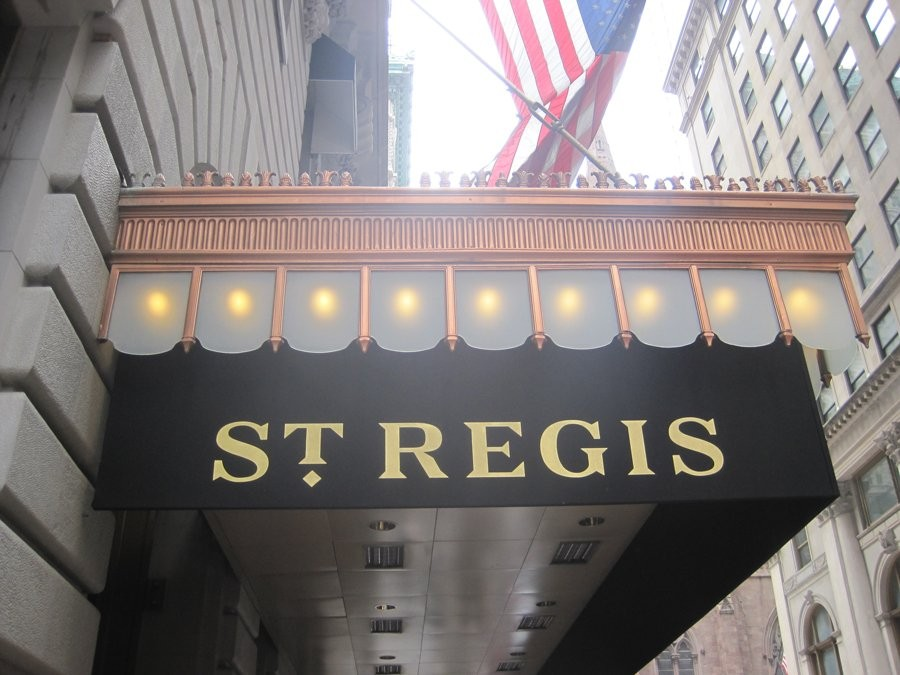 St. Regis hotel's new Tiffany suite cost $ 8,500 a night