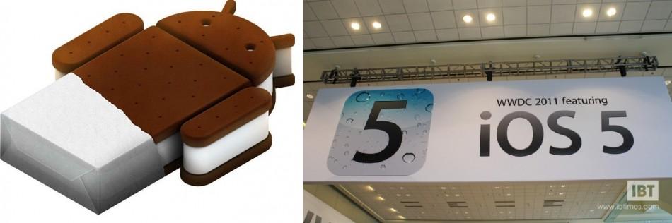 Mobile OS War - Apple iOS 5 versus Google Ice Cream Sandwich