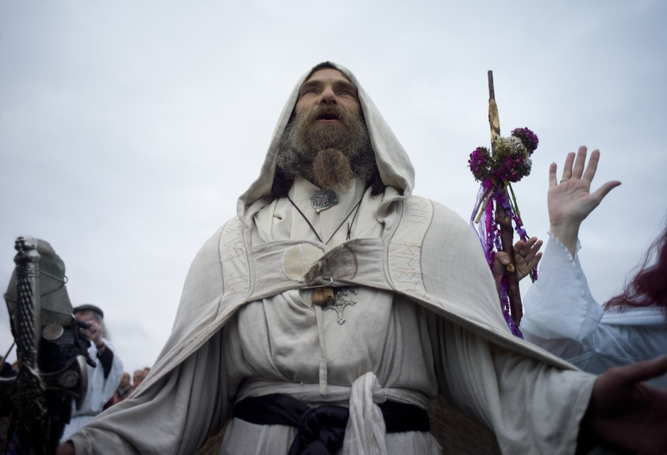 Chants and Incantations: Summer Solstice 2011 celebrated by druids at Stonehenge.
