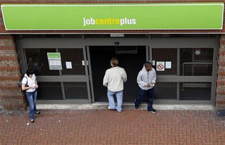 A man enters a job centre