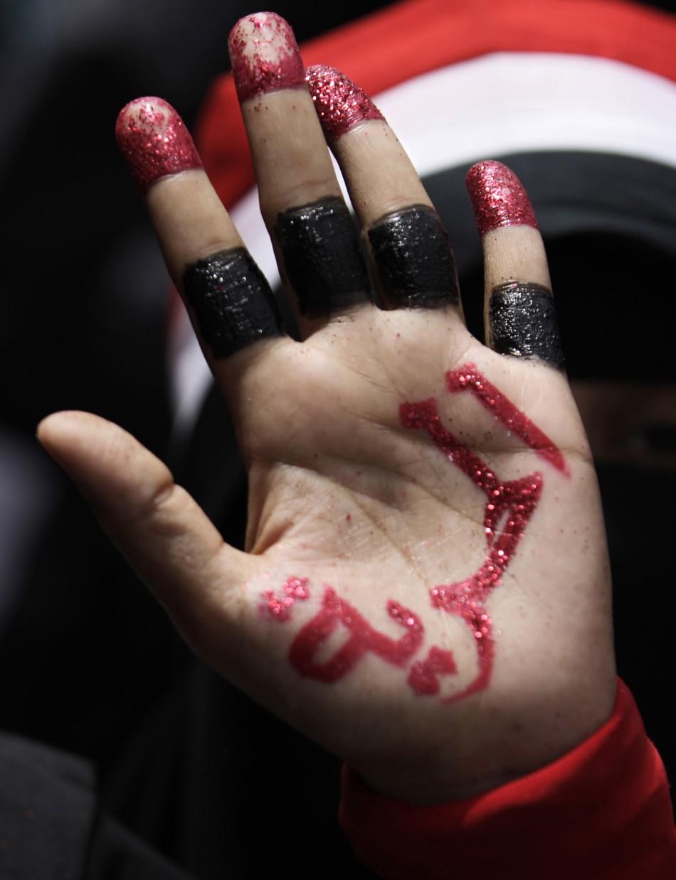 Art amidst Yemen unrest: Unique pictures of hand art by protestors.