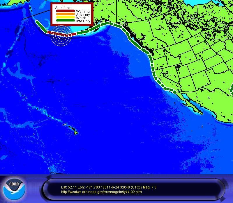 7.4 Earthquake hits Alaskan island: Tsunami warning in effect