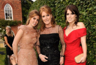 From left to right: Princess Beatrice, Sarah Ferguson, and Princess Eugenie
