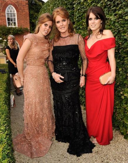 Left to right: Princess Beatrice, Sarah Ferguson, and Princess Eugenie.