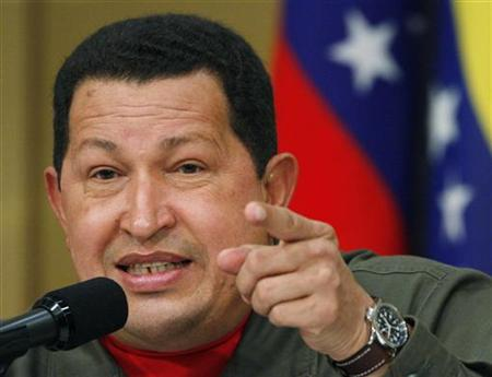 Venezuela's President Chaves speaks during a news conference in Tokyo