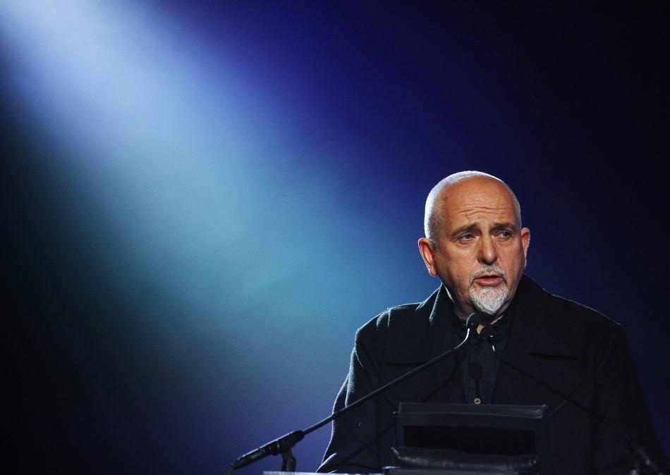 Singer Peter Gabriel