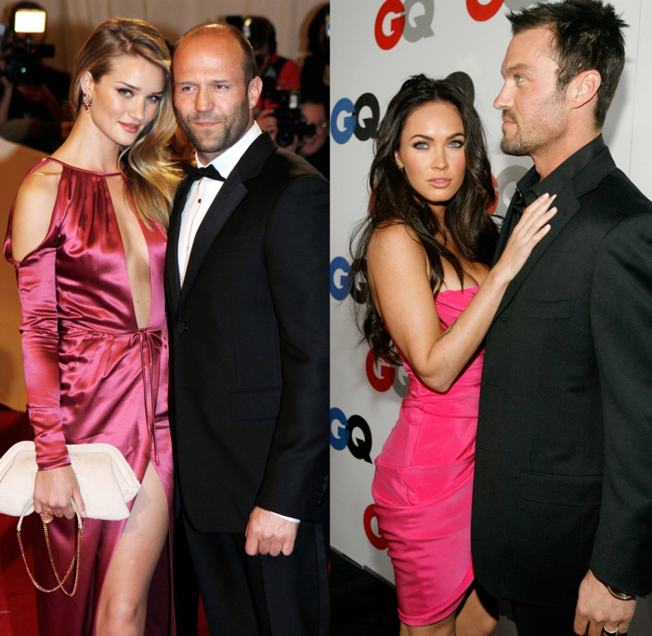Model Rosie Huntingdon-Whitley L and Actress Megan Fox